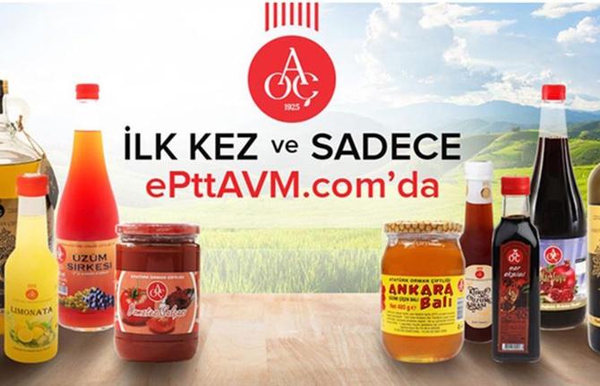 Atatürk Orman Çiftliği ürünleri e-PTTAVM'de satışta