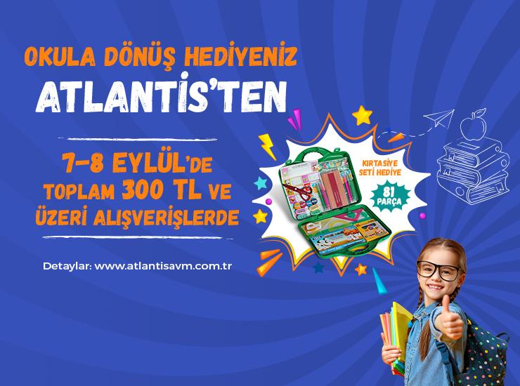 Okul için gerekli kırtasiye malzemeleri Atlantis'te kazanılacak