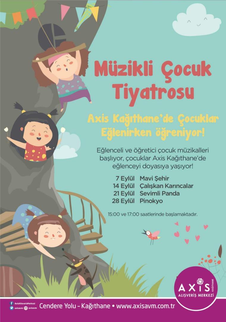 Axis Kağıthane'de minikler Çocuk Müzikali ile eğlenecek