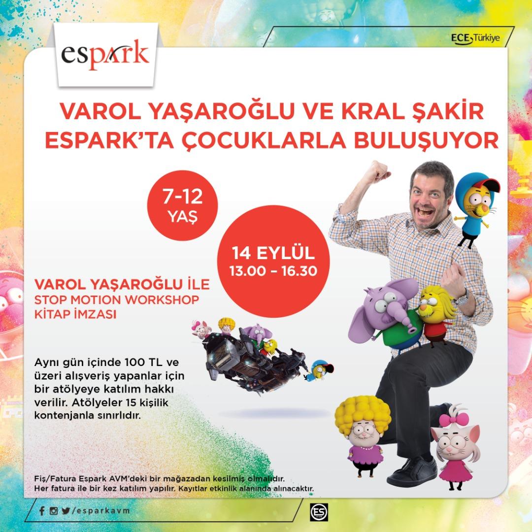 Espark ziyaretçileri Varol Yaşaroğlu'yla bir araya gelecek