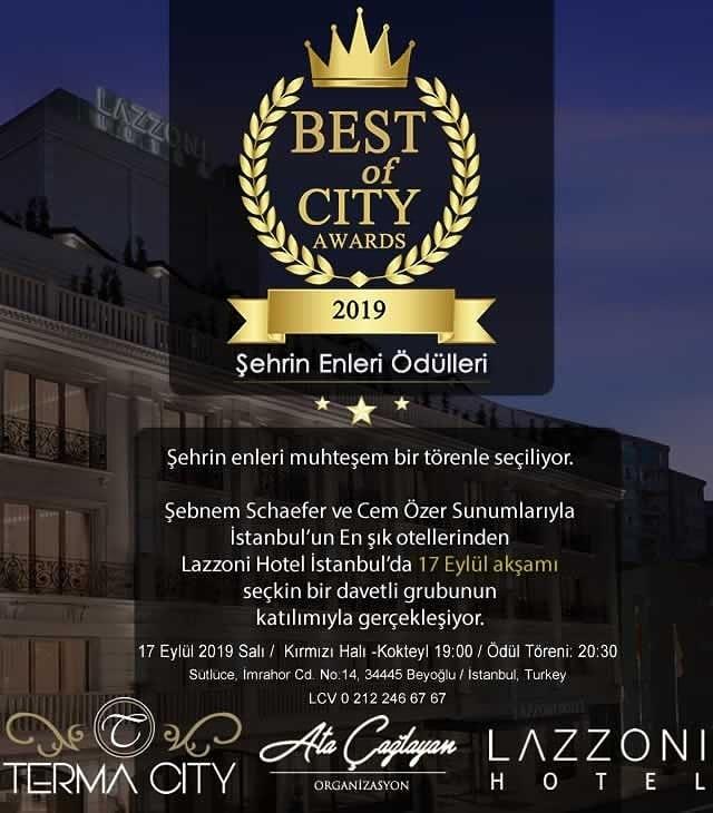 17 Eylül'de Şehrin En'leri ödülleri ile buluşacak