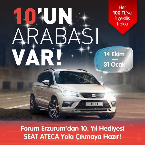 Forum Erzurum'dan 10.Yıl hediyesi Seat Ateca