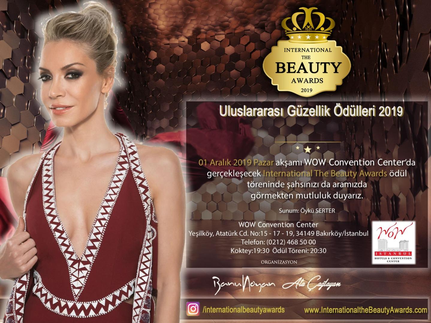 Internotıonal The Beauty Awards 1 Aralık'ta WoW Istanbul Hotel'de