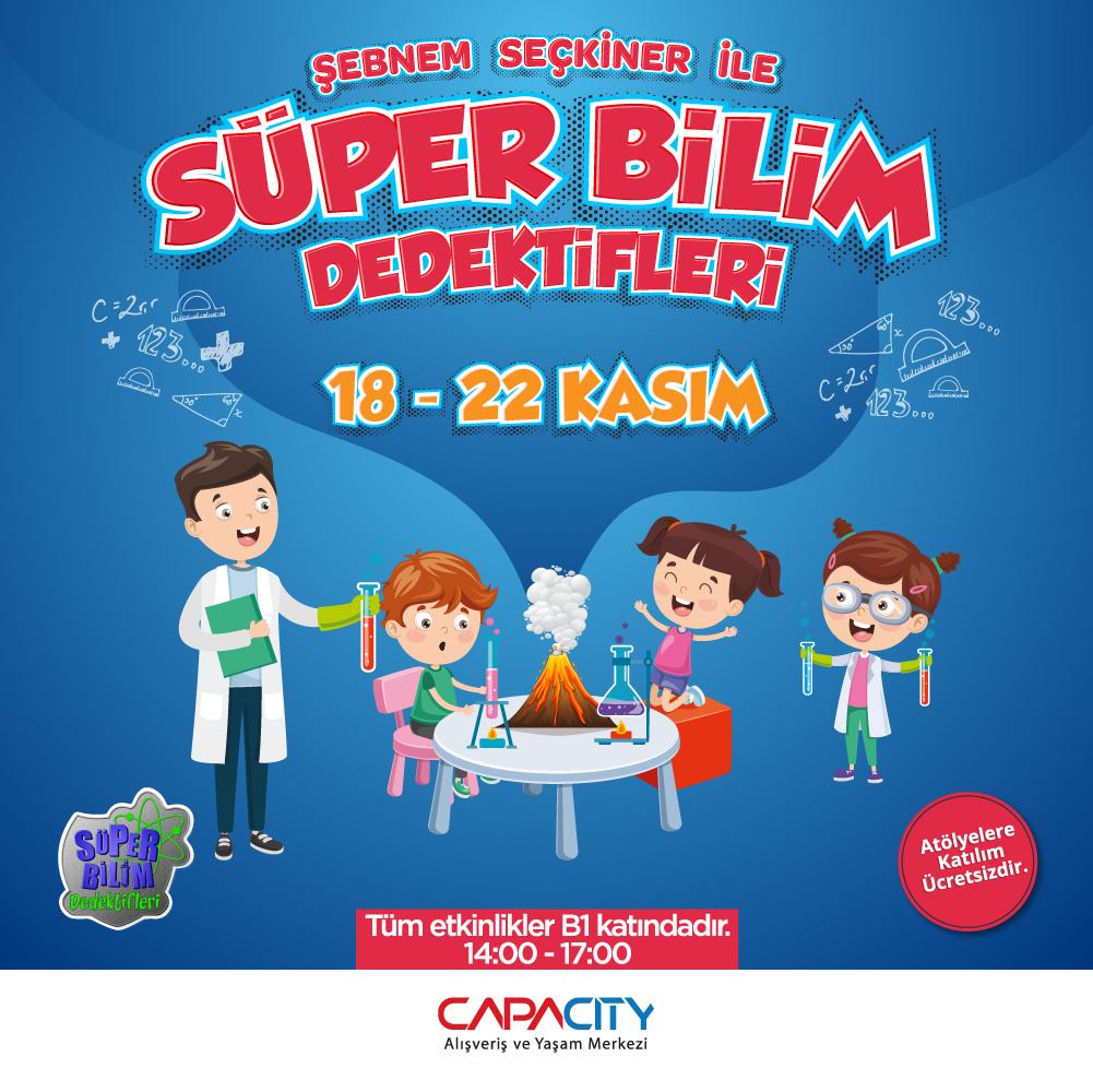Ara tatile girecek olan maceracı çocuklar Capacity AVM'de buluşacak