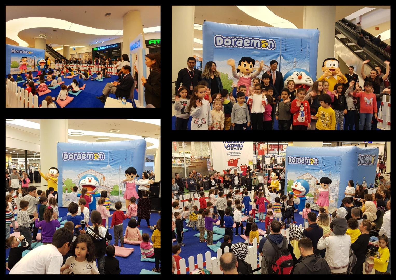 Doraemon ve Arkadaşları miniklerle Anatolium'da buluştu
