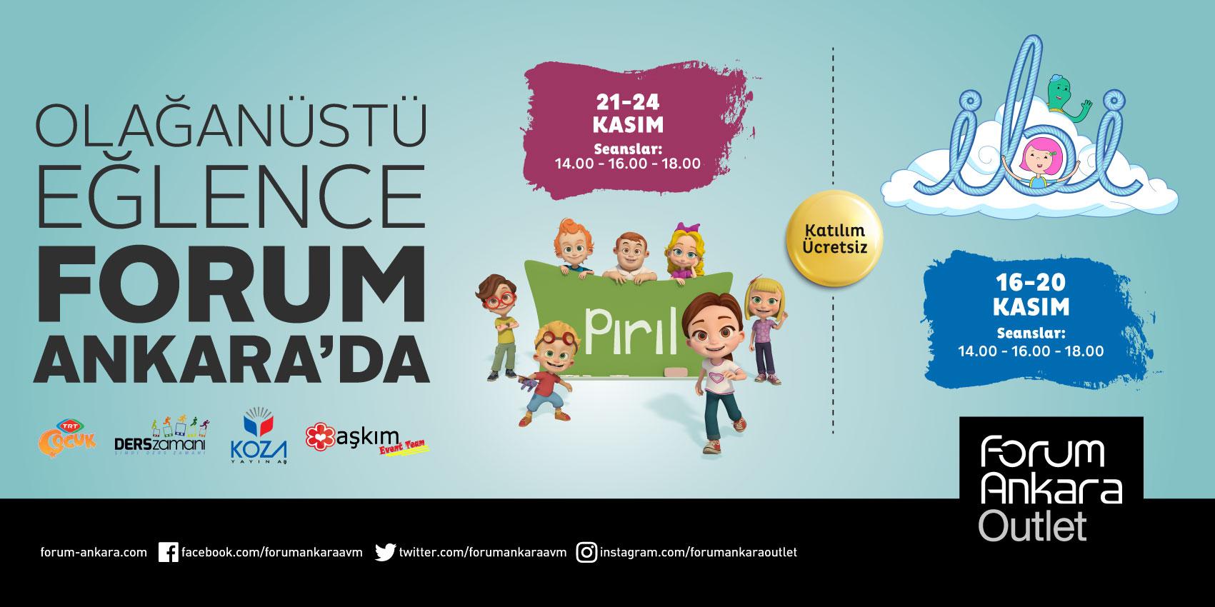 Forum Ankara TRT Çocuk kahramanları ile minik hayranlarını bir araya getiriyor
