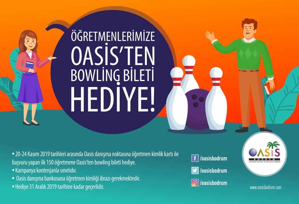 Oasis'ten öğretmenlere bowling hediyesi