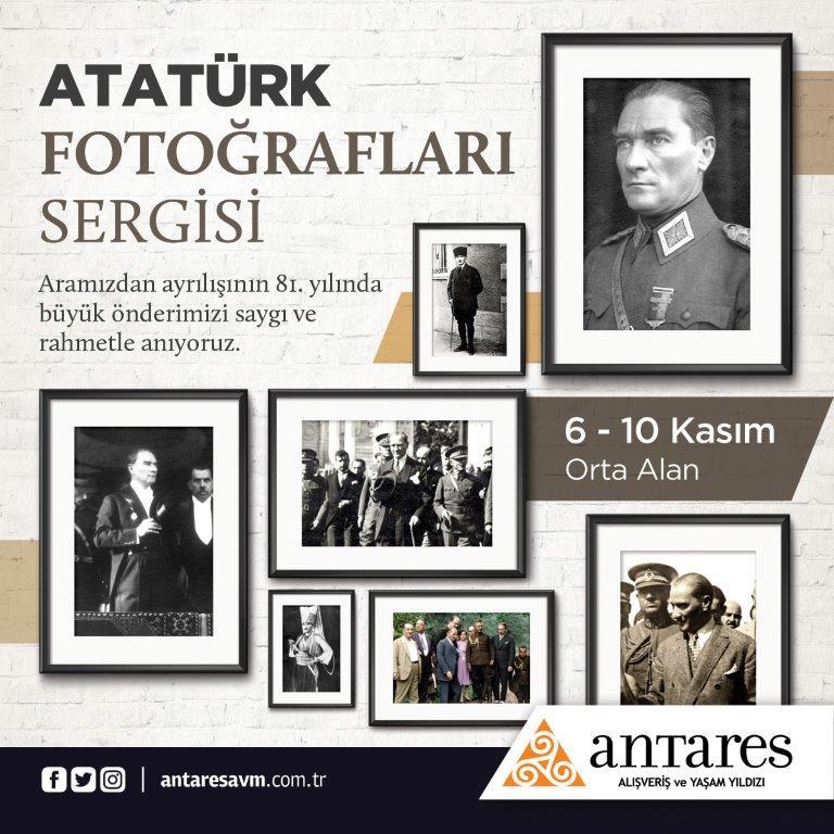 Atatürk'ün sevdiği şarkılar ve fotoğraf sergisi Antares AVM'de