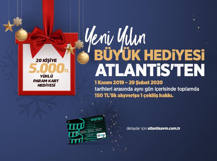 Atlantis AVM'den yeni yılda 20 kişiye 5000 TL