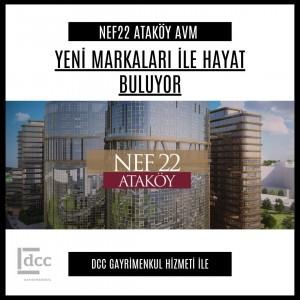 Nef22 Ataköy kira danışmanı DCC Gayrimenkul oldu