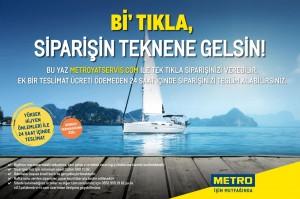 Metro Türkiye ile siparişin tekneye gelsin