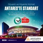 Güvenli ve hijyenik hizmet Antares'te standart