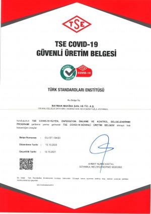 Baymak COVID-19 Güvenli Üretim Belgesi'nin sahibi oldu