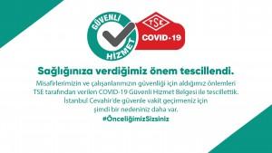 """İstanbul Cevahir AVM """"TSE Covid-19 Güvenli Hizmet Belgesi"""" aldı"""