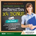 Tüm Öğretmenlere Antares'ten  X4 Bonus