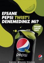 Kolasını misket limonlu sevenler için ezber bozan Pepsi Twist