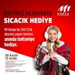 M1Konya AVM'den iç ısıtan kampanya