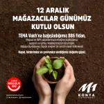 M1 Konya AVM Mağazacılar Günü'nde Tema Vakfı'na 886 fidan