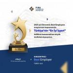 """Fiba Commercial Properties'e """"Çalışan Bağlılığı"""" ödülü verildi"""