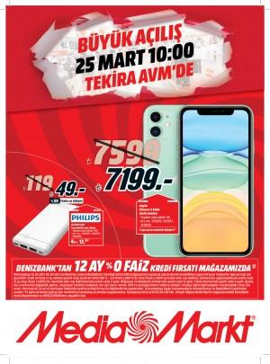MediaMarkt Tekirdağ'da yeni mağazasını indirimlerle açıyor