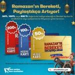 Altunbilekler'de Ramazan'ın bereketi paylaştıkça artıyor