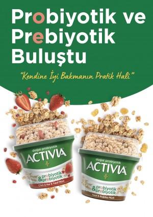 Activia'nın probiyotikleri şimdi prebiyotikler ile buluştu