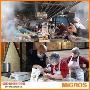 """Migros'tan """"Gıdanı Koru Sofrana Sahip Çık"""" kampanyasına destek"""