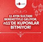 Bitmeyen kuponlar Ramazan kampanyası n11.com'da
