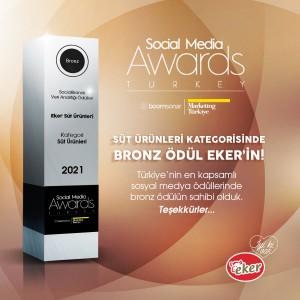 Eker, Social Media Awards Turkey'de ödül sahibi oldu