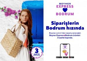 Boyner Express'le Bodrum'da 3 saatte kapıya teslimat