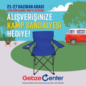Gebze Center AVM, kamp sandalyesi hediye ediyor