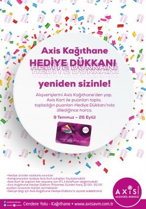 Axis Kağıthane AVM'de hediye yağmuru devam ediyor