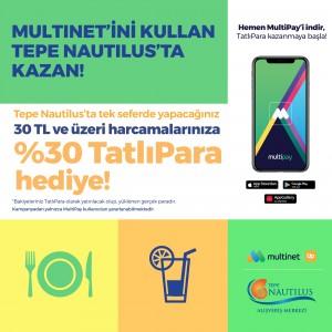Tepe Nautilus, MultiNet ile yüzde 30 TatlıPara hediye ediyor