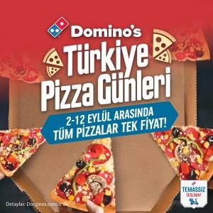 Domino's Türkiye Pizza Günleri'nde  tüm pizzalar tek fiyata