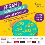 Park Afyon'da 11-19 Eylül arasında Efsane İndirim Günleri