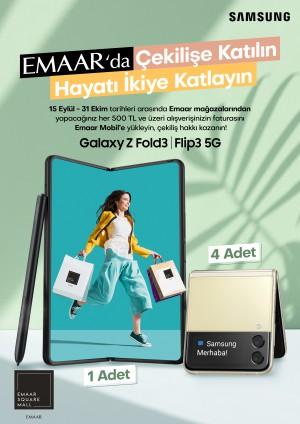 Emaar alışverişlerinize Galaxy Z Fold3 5G veya Flip3 5G kazanma şansı