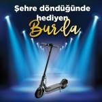 17 Burda AVM'de elektrikli scooter kazanma şansı