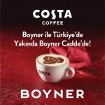 İngiltere'nin 1 numaralı kahvesi Costa Coffee Boyner ile Türkiye'de