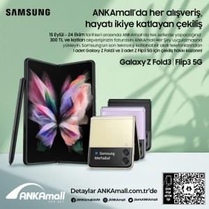 Son teknoloji katlanabilir telefonlar ANKAmall'un hediyesi