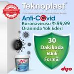 DYO'dan Koronavirüse 30 dakikada etki eden boya: DYO Teknoplast