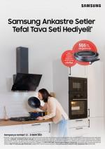 Samsung'dan Tefal Tava Seti hediyeli ankastre set kampanyası