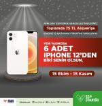 14 Burda AVM 6 adet iPhone 12 kazandırıyor