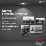 Atatürk'ün son yolculuğu çok özel bir sergiyle Marmara Park'ta