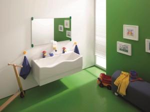 Çocukların keyifli banyo deneyiminde Geberit Bambini'nin imzası