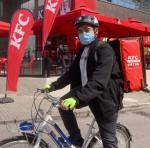 KFC Türkiye bisikletli kurye ile dağıtımlara başladı