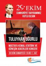 Dünyaca Ünlü Piyanist ve Besteci Tuluyhan Uğurlu Tepe Nautilus'ta