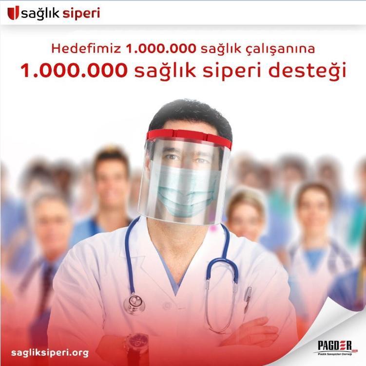 PAGDER sağlık çalışanlarını 1.000.000 sağlık siperi ile koruyacak