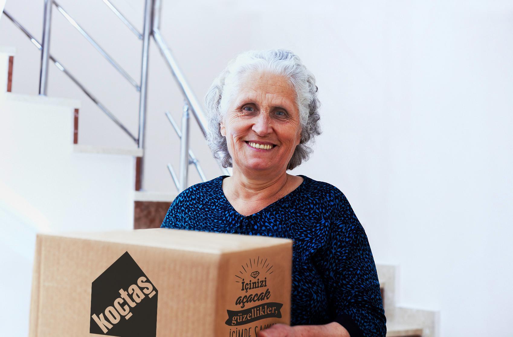 65 yaş üstüne nakliye ve montaj hizmetleri Koçtaş'ta ücretsiz