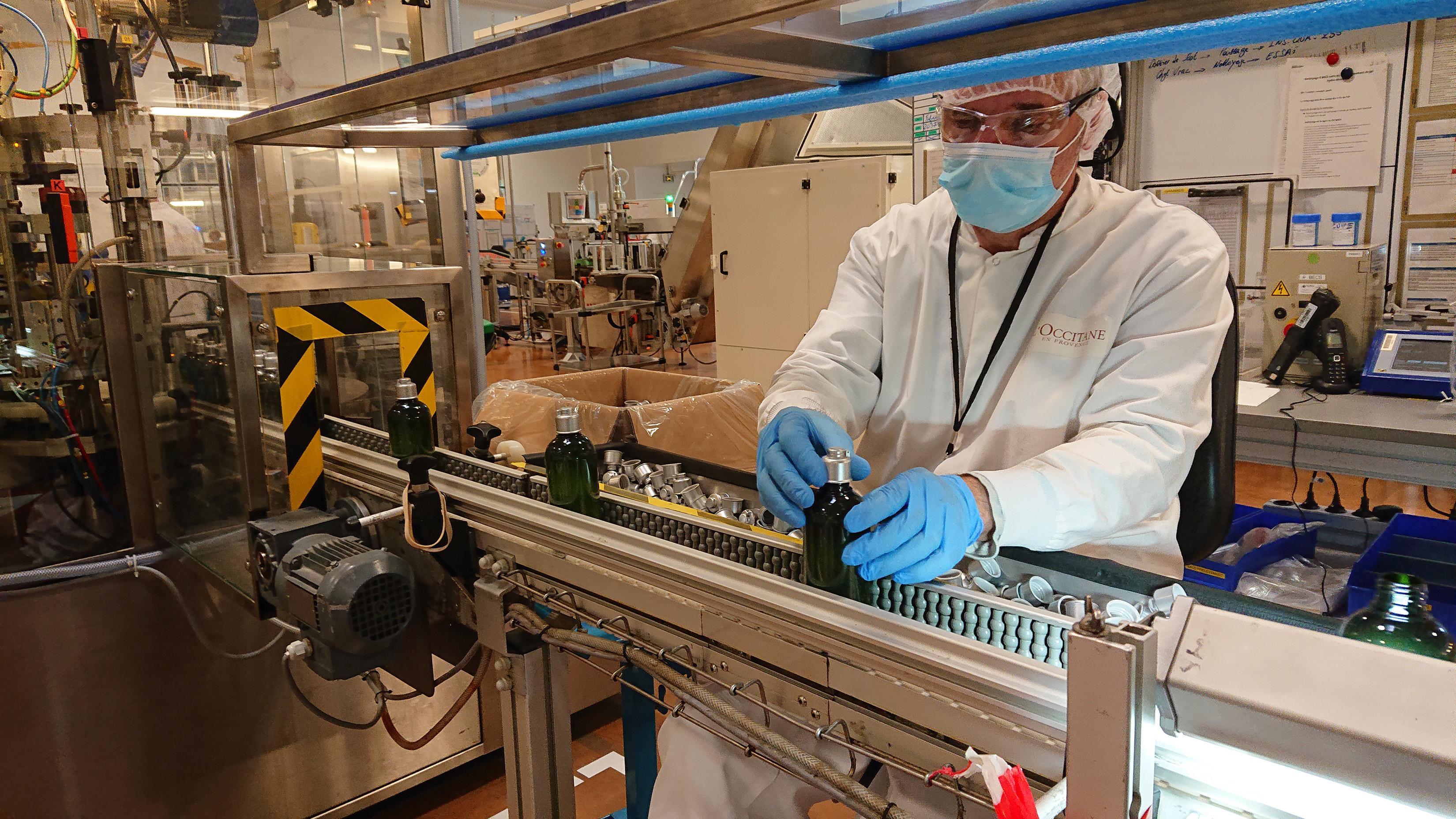 L'Occitane Covid-19'a karşı el dezenfektanı üretiyor