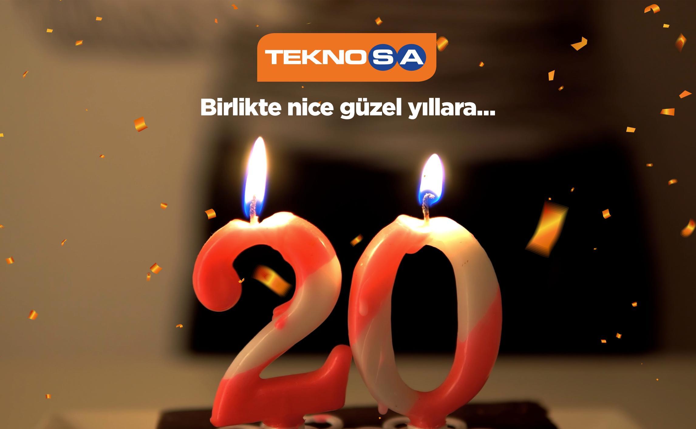 Teknosa'dan 20'nci yaşına özel reklam